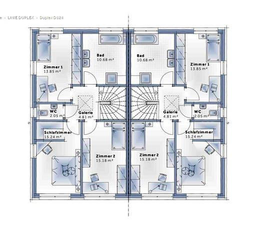 Variohaus Duplex D124 Floorplan 2