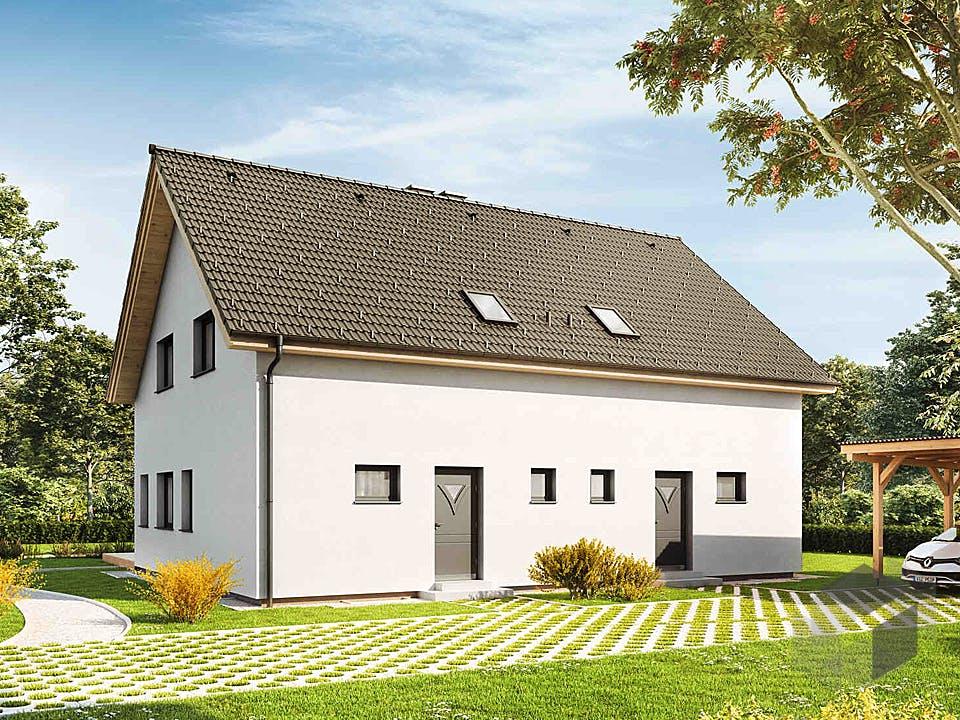 Duplex D97 von VARIO-HAUS Außenansicht