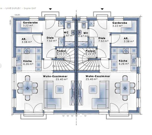 Variohaus - Duplex D97 Floorplan 1