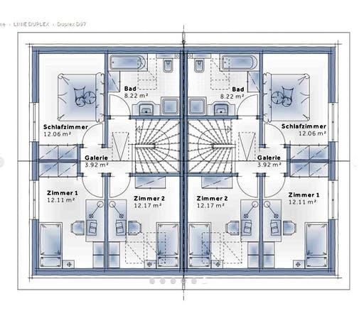 Variohaus - Duplex D97 Floorplan 2