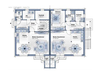 Duplex TRIO von VARIO-HAUS Grundriss 1