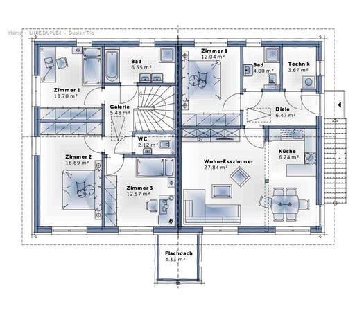 Variohaus - Duplex Trio Floorplan 2