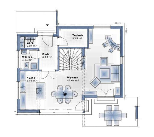 Variohaus - Esprit SMALL Floorplan 1