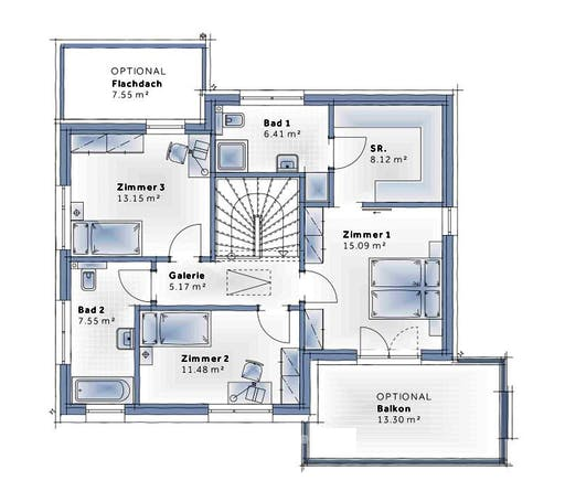 Variohaus - Esprit SMALL Floorplan 2