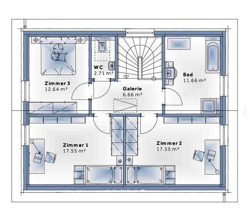 Variohaus - Family Classic Floorplan 2