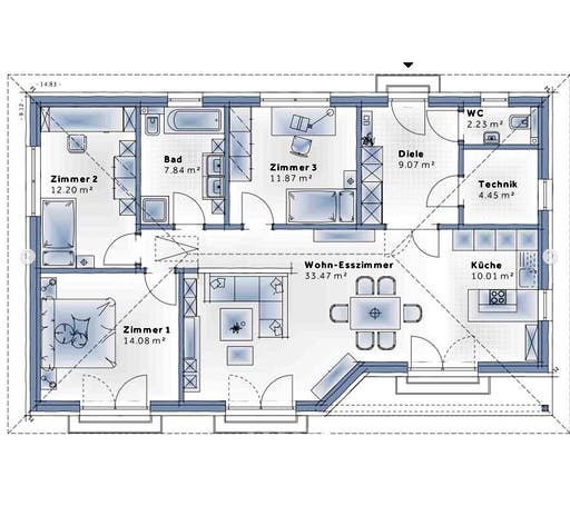 Variohaus - Family Compact Floorplan 1