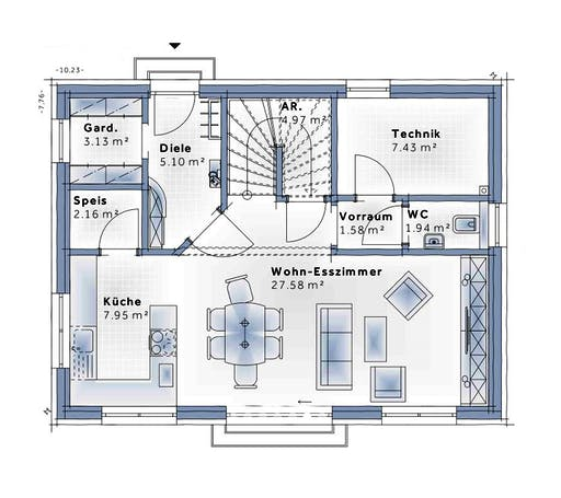 Variohaus - Family Flex Floorplan 1