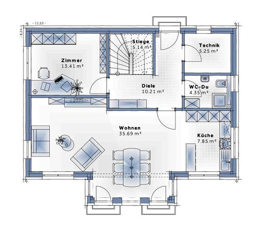 Variohaus - Family Life Floorplan 1