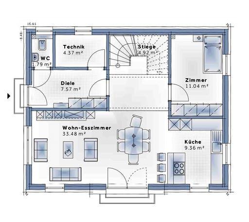 Variohaus - Family Open Floorplan 1