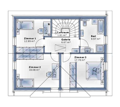 Variohaus - Family Open Floorplan 2