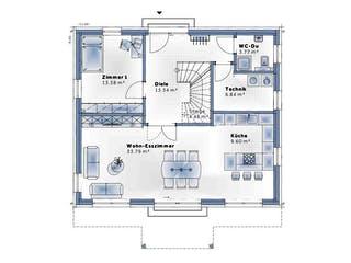 New Design Five von VARIO-HAUS Grundriss 1
