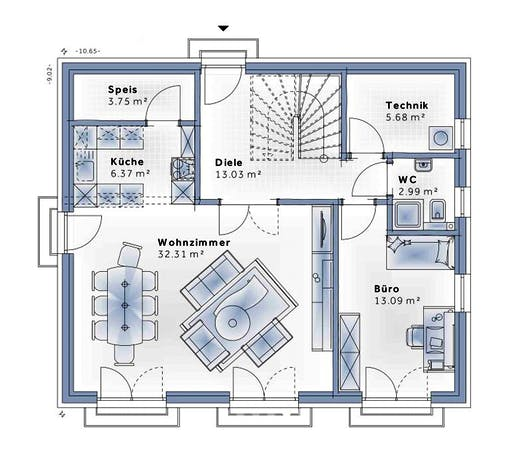 Variohaus - New Design Novum Floorplan 1