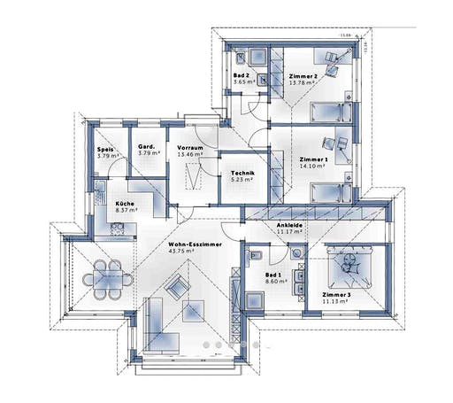 Variohaus - S141 LARGE Floorplan 1