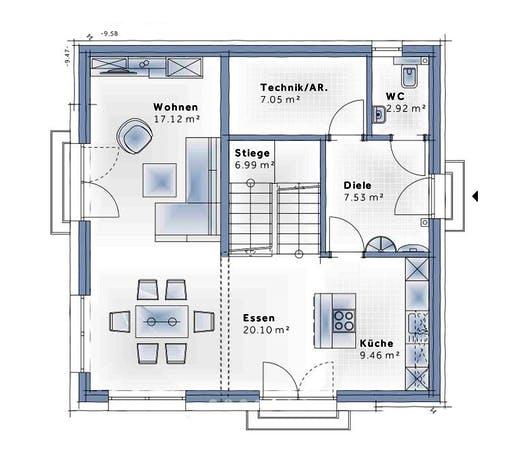 Variohaus - SkyView Floorplan 1