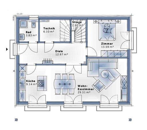 Variohaus - Sunrise Floorplan 1