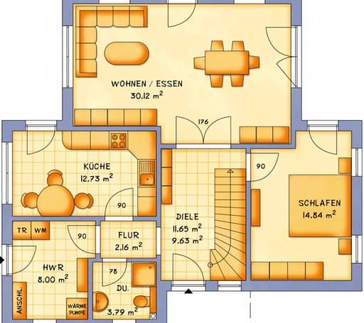 Einfamilienhaus VarioVision 118 von VarioSelf Massivhäuser ...