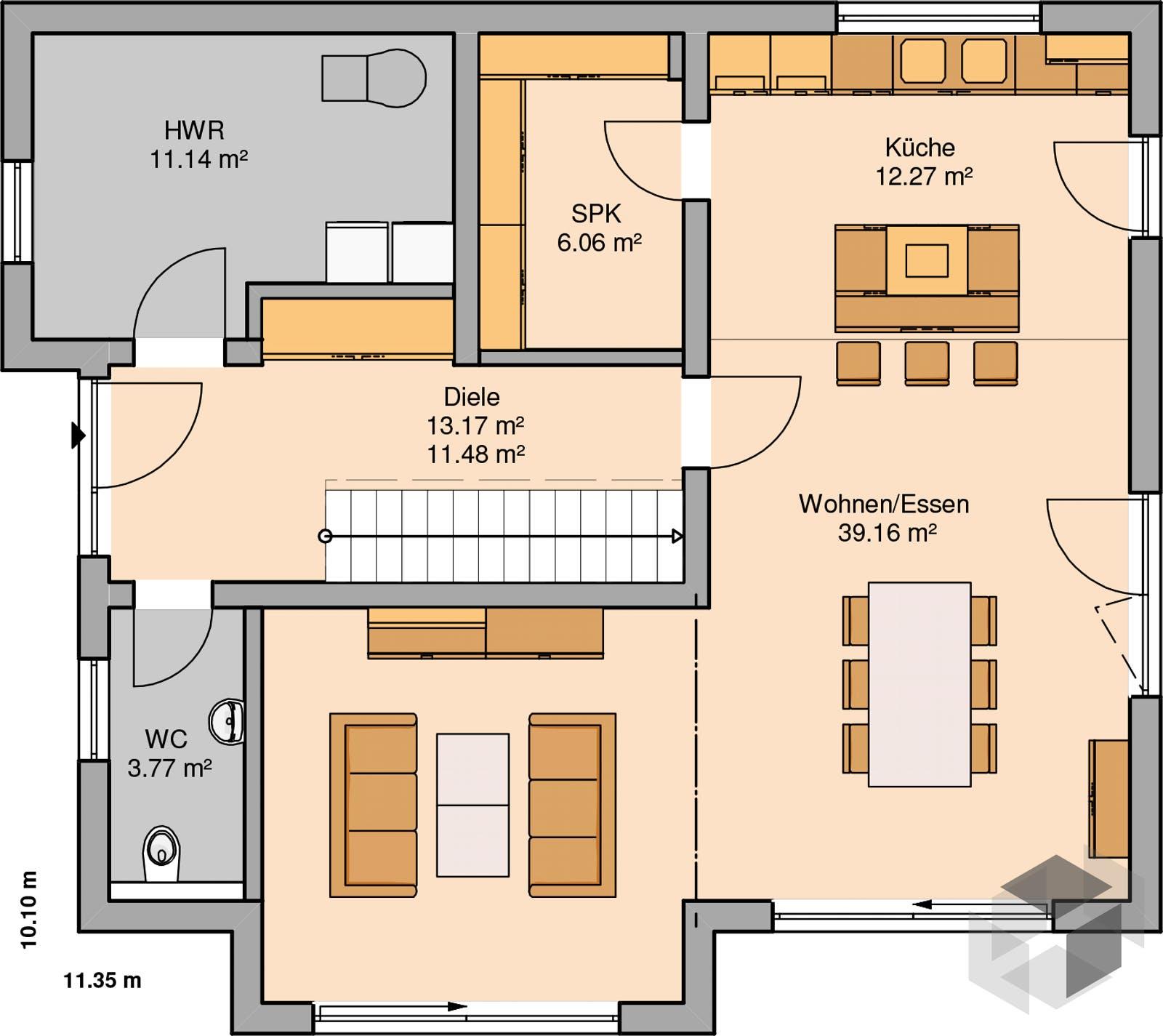 Architektenhaus vero von kern haus komplette for Architektenhaus grundriss