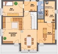 Frei geplantes Kundenhaus mit Klinkerfassade (inactive) Grundriss