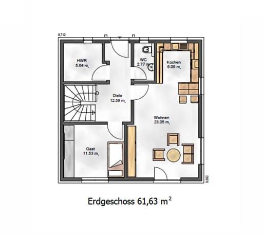 Das Vielseitige 121 Floorplan 1