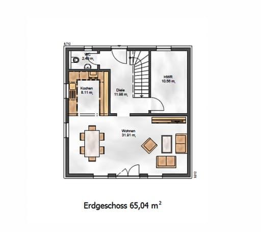 Das Vielseitige 128 Floorplan 1