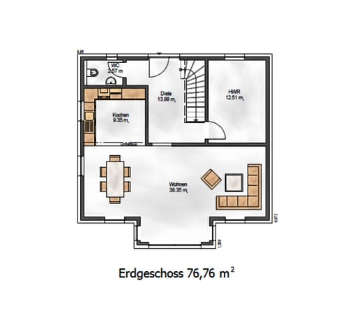 Das Vielseitige 153 Floorplan 1