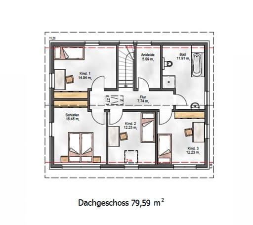 Das Vielseitige 167 Floorplan 2