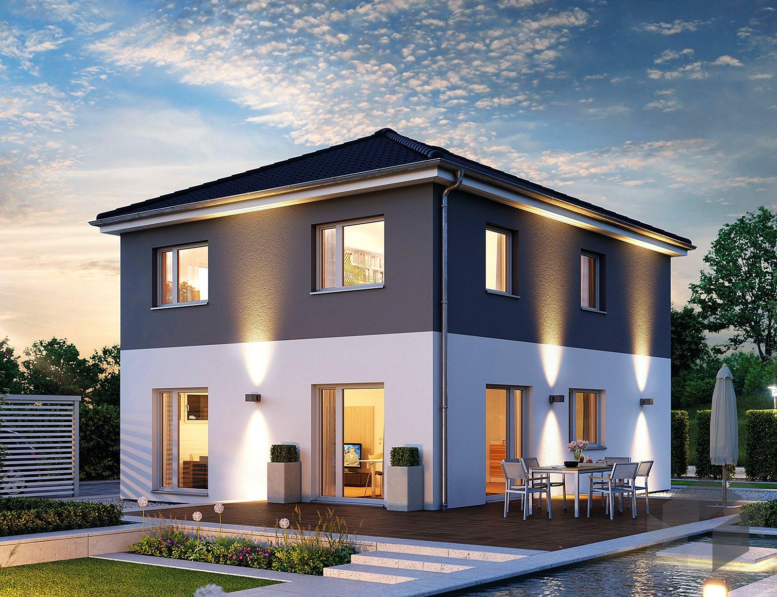 villa 133 von hanse haus. Black Bedroom Furniture Sets. Home Design Ideas