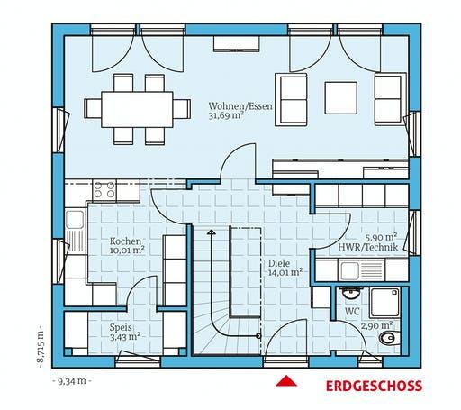 Hanse - Villa 134 Floorplan 1