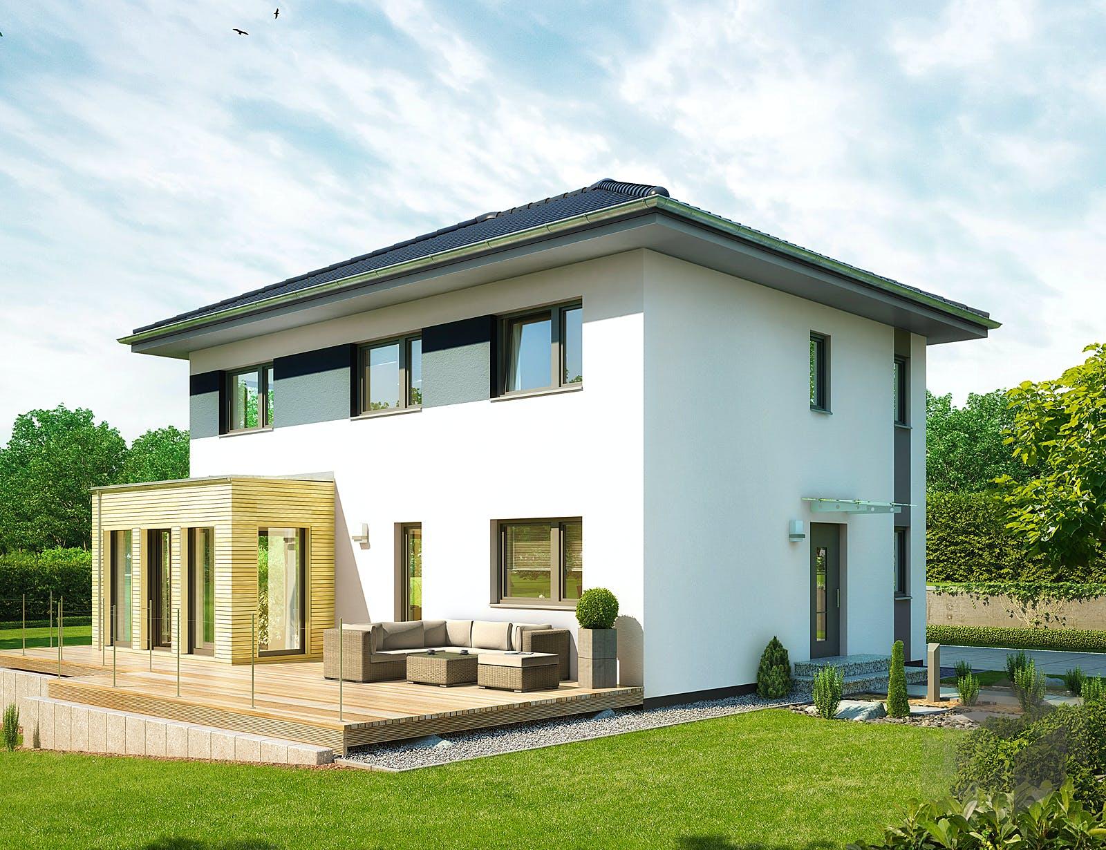 villa 142 von hanse haus. Black Bedroom Furniture Sets. Home Design Ideas