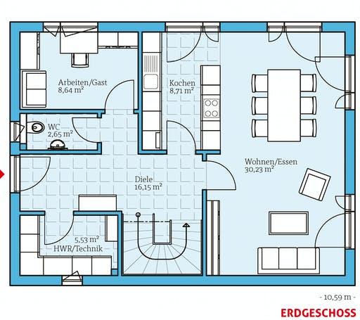 Hanse - Villa 142 Floorplan 1