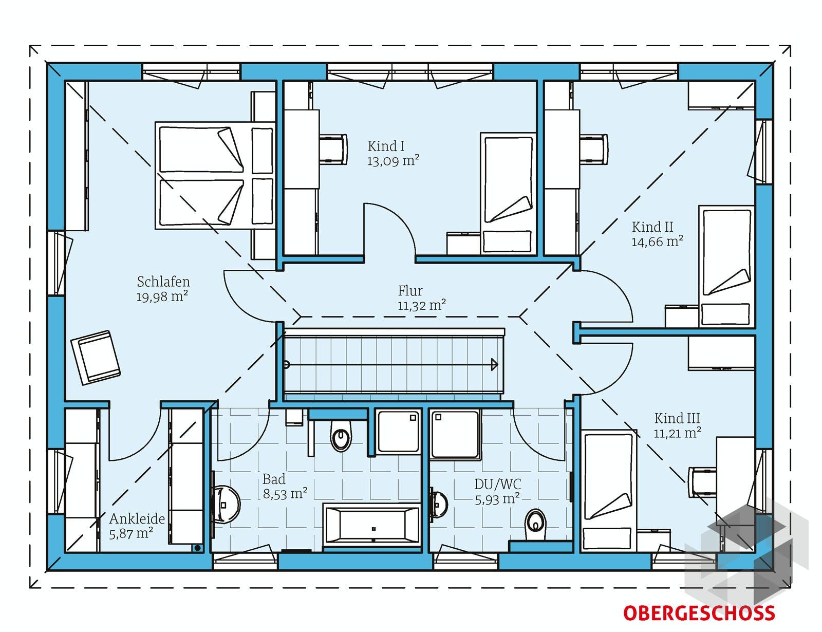 villa 183 von hanse haus. Black Bedroom Furniture Sets. Home Design Ideas