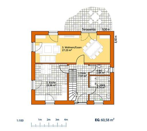Virtus Klassiker V 120 Floorplan 1