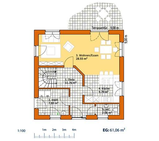 Virtus Stadtvilla V 130 Floorplan 1