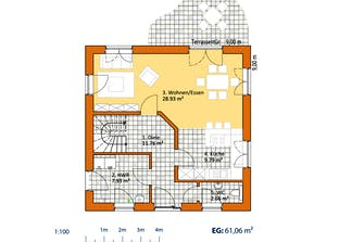 Stadtvilla V 130 Grundriss