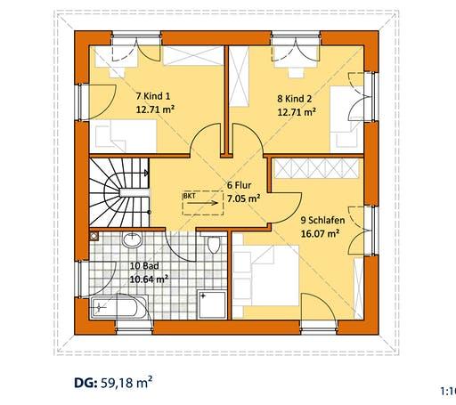 Virtus Stadtvilla V 130 Floorplan 2