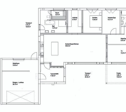 Luxhaus Walmdach 167 Floorplan 1