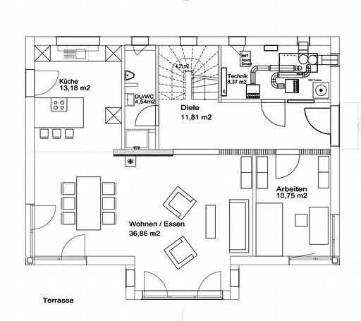 Luxhaus Walmdach 174 Floorplan 1