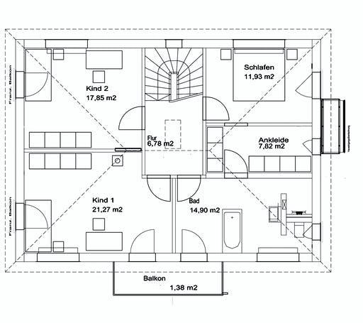Luxhaus Walmdach 174 Floorplan 2