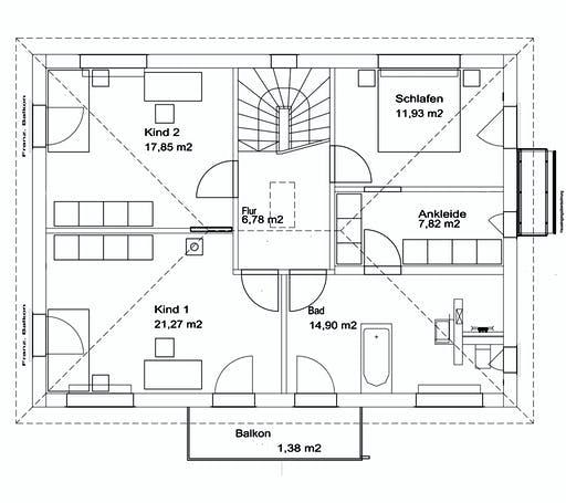 Luxhaus Walmdach 175 Floorplan 2