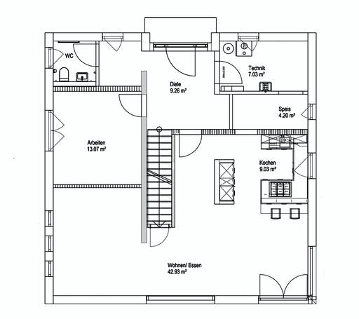 Luxhaus Walmdach 187 Floorplan 1