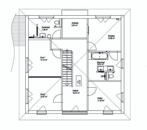 Luxhaus Walmdach 187 Floorplan 2
