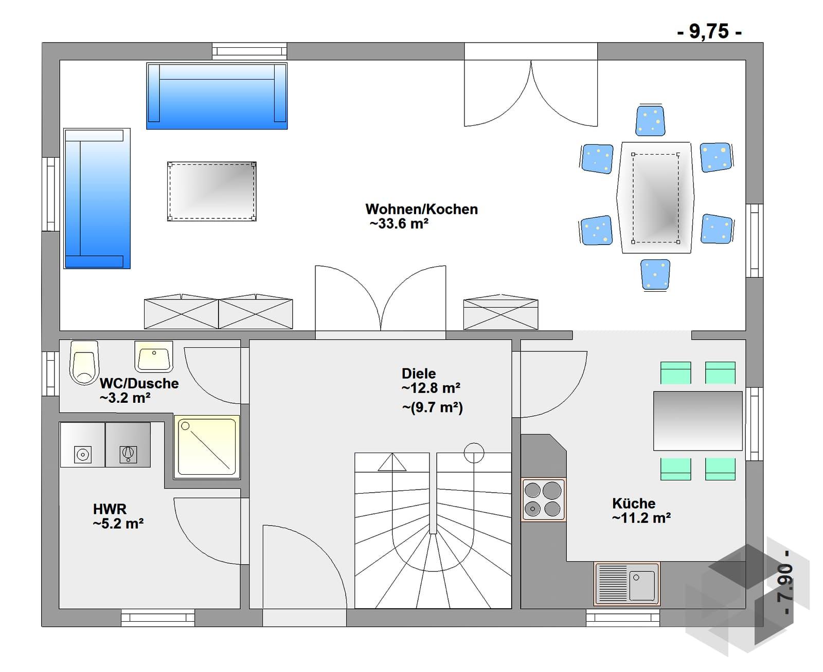 walmit inactive von hagemann haus komplette. Black Bedroom Furniture Sets. Home Design Ideas
