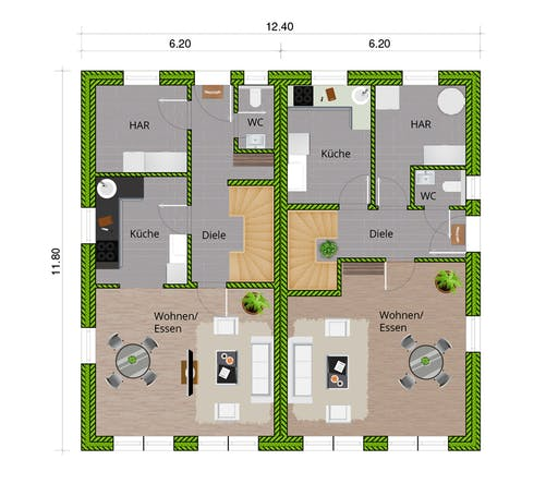 WBI - DHH Stadthaus 110 Floorplan 1