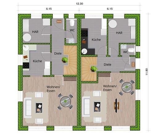 WBI - DHH Stadtvilla 110 Floorplan 1