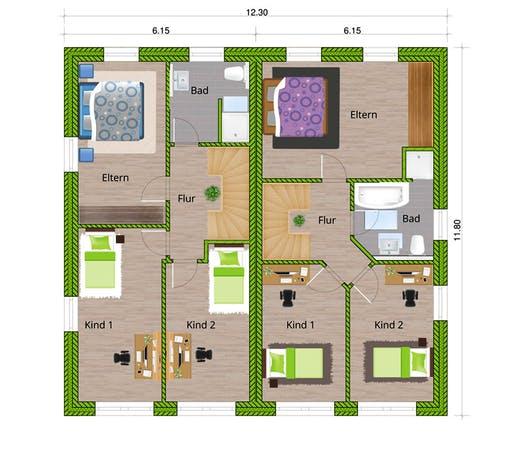 WBI - DHH Stadtvilla 110 Floorplan 2