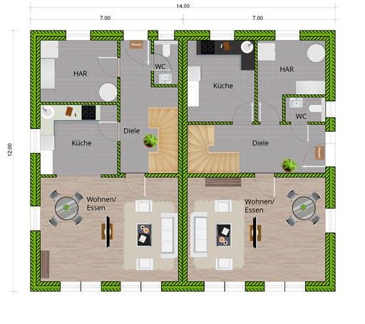 WBI - DHH Stadtvilla 130 Floorplan 1