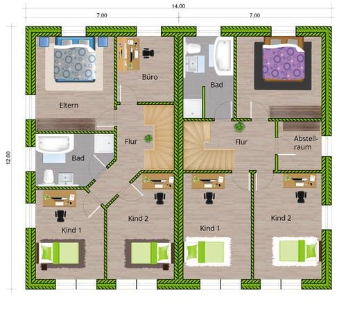 WBI - DHH Stadtvilla 130 Floorplan 2