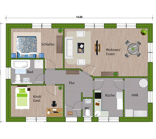 WBI - EFH Bungalow 105 Floorplan 1