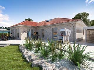 Bungalow 140 von WBI Hausbau Außenansicht 1