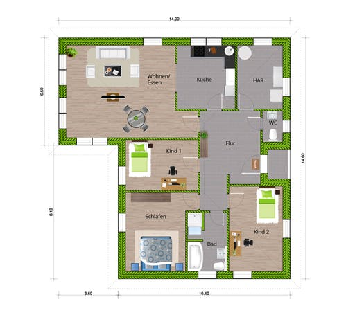 WBI - EFH Bungalow 140 Floorplan 1